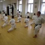 Okinawa karate Praha - rozcvička